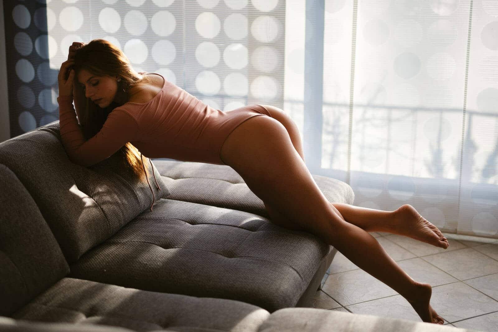 boudoir homeshooting gegenlicht